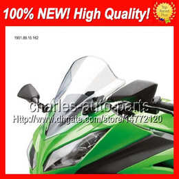 Wholesale Moto ABS Clear Windshield For KAWASAKI NINJA ZX ZX11 ZX R ZX11R ZX R Transparent Windscreen Screen