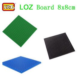 Wholesale LOZ Diamond Building Blocks Plate Base x8cm Baseplate Accessories Different Colors Action Figures Floor Board Accessories for LOZ Figures