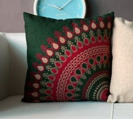 Pillow Covers Cushion Covers Turquoise cushion covers for sofa Cotton Linen decorative pillows Modern Decor