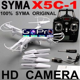 Wholesale-Syma X5C-1 Syma X5C Upgrade Version RC Helicopter With 2MP Camera Memory Card outdoor rc toys Vs X5SW MJX X600 Economic X5C-1