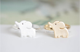 Fashion Elephant Rings Silver Plated Rose Gold Plated Rings Manual welding copper rings mix color