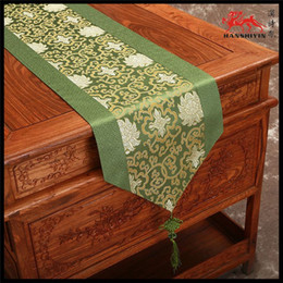 Elegant Patchwork Luxury Dinner Party Table Runner Silk Brocade Chinese knot High Quality Tea Table Cloth Bed Runners L200xW33cm