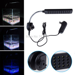 Canada Nouveau 12 V 48 LED Aquarium Réservoir de poissons Light Water Plant 2 Mode Clip Blanc Blue Bulb Lampe Fish Tank LED Light Bar Drop Shipping Offre