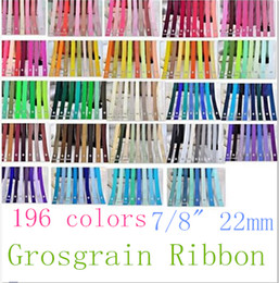7 8 22mm Superior Quality 196 Solid Colors Grosgrain Ribbon for Party Sewing Hair Bow Craft Packaging, OEM 100 Yards Lot for 1 Color