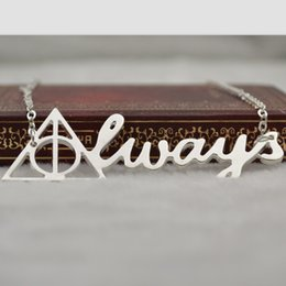 Wholesale 2015 NEW Arrival European and American film Harry Potter Deathly Hallows jewelry necklace pendant necklace new retro triangle statement Gift