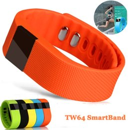 Wholesale TW64 Smart Bracelet Fitness Smart Watch Silicone Smart Wristband Dual APP Healthy Tracker Pedometer Calories Sleep Monitor Multi Color Smart