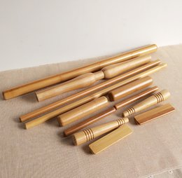 Wholesale 12pcs set Bamboo Body Massager Pole Massage Stick Water proof Wooden Craft