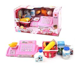 Wholesale Cash Register Wholesalers - Simulation cash register Luxury Pretend Play Toys Supermarket checkout Simple version with no shopping cart Kids toy gift 20pcs 201506LY