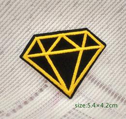 Black diamond gemstone carat retro jewelry applique iron-on patch new Shirt Kids Toy Gift baby Decorate Individuality