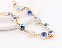 New Arrive Colorful Crystal Women Bracelets Hot Sale Korean Crystal Charm Bracelets Women Party Jewelry Accessories 129