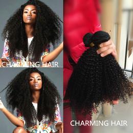 Grade 7A Unprocessed Malaysian virgin hair Kinky Curly hair weaves 3pcs human hair extensions natural black top hair products