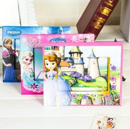 Wholesale Kids Cartoon Toys Designs Photo Frames Frozen Sofia Winnie Snow White Paper Photo Frames Best Birthday Gifts