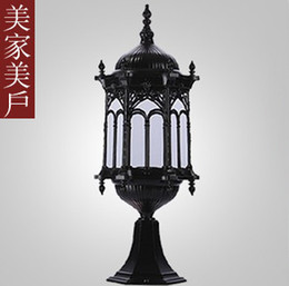 Wholesale Promotional explosion models vintage European wall lamp outdoor lighting garden courtyard lawn lamp floor lamp Iron Limited Time