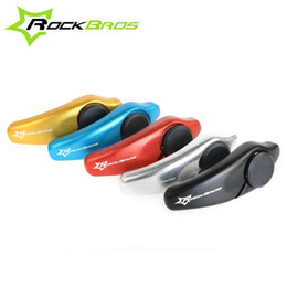 RockBros Aluminum Cycling Grips MTB Mountain Bike Bar Ends Bicycle Barend Barends Handlebar Grips Cycle Parts 5 colors