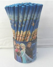 Free Shipping wholesale Hotsale! 2box 144 Pcs lot Frozen pencils Cartoon pencils Lovely pencil Gift