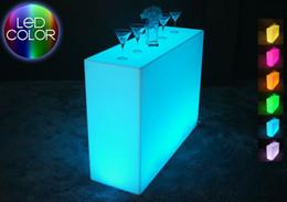 Wholesale Luminous Remote control LED Bar Counter Break Bar LED Break Line Bar Table rechargeable Rundbar LED Bartresen furniture