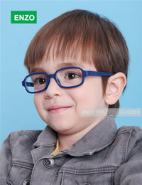 Wholesale Flexible Kids Eyeglasses Frame Size No Screw TR90 Children Glasses Unbreakable Safe Light Boys Girls Optical Glasses