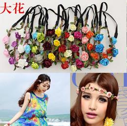 Wholesale 2016 Hot Sale New Fashion Womens Bohemia Beach Flower Hair Bands Headband Hair Accessory Colors Drop Shipping Headwear