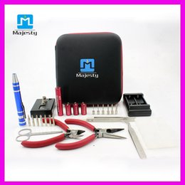 2015 Majesty Different Best Quality Style Coil Master Tool Kit For RDA RBA Atomizer Rebuilding Vape Mod