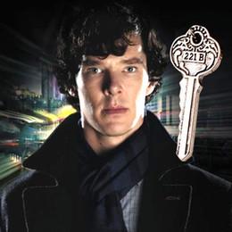 Wholesale 2016 New Style Detective Sherlock b Apartment Key Necklace Restoring Ancient Ways is Key Accessories Colors cm Long ZJ