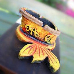 estilo chino Las características de otros peces cada negro étnica Cerámica costumbres proceso de Cenicero Dongba Yunnan año puros desde proceso de pesca fabricantes