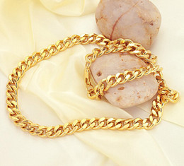 WHOLESALE CHAINS NECKLACES 18K GOLD PLATED MALE TWIST NECKLACE 19.5INCH 8.3MM CHEAP MENS NECKLACE
