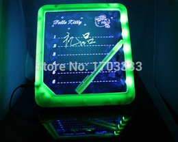 Wholesale LED handwritten fluorescence plate light emitting LED message board creative electronic fluorescent board advertising board