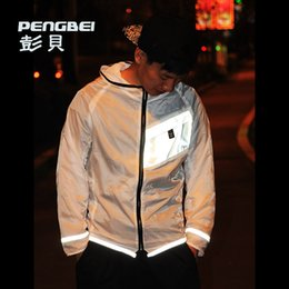 Wholesale 2015 new summer m reflective clothes Prevent bask men s ultralight running breathable Waterproof hoodies sport skin jackets