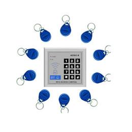 Promotion entrée de la porte de sécurité Porte d'entrée de sécurité de proximité RFID Verrou Access Control System 10 Touches d'accès Lecteur de carte de contrôle 800860