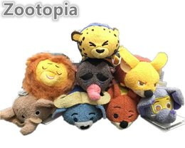Wholesale Tsum Zootopia Mayor Lionheart elephant cattle fox lopard CM Plush doll Stuffed Toy Cute elf doll Screen Cleaner for iPhone plush toy