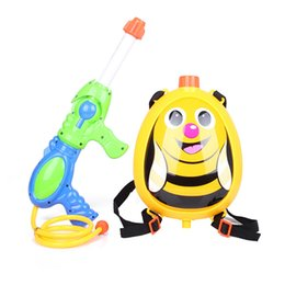 Wholesale Birds backpack type air pressure water gun toys for children