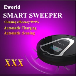 Wholesale Eworld Rechargeable mini robotic vacuum cleaner M884 for home robot vacuum cleaner with mopping function cleaning machine withRemote contro