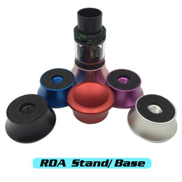 Wholesale Vaporizer RDA Stand Holder Base Atomizers Electronic Cigarettes Clearomizer Deck Stand Aluminum Material Colorful Vape Thread DHL Free