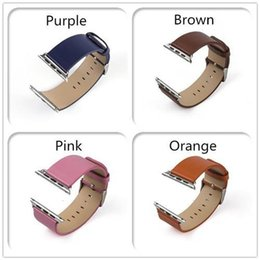 Wholesale 2015 Best Selling iWatch Bands Original mm mm iWatch Business Leather Band Fitness Replacement Strap Leather Band For Apple Watch