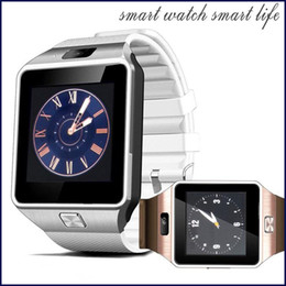 Smartwatch Latest 1.56 inch DZ09 Bluetooth Smart Watch With SIM Card For Apple Samsung IOS Android Cell phone Free shipping MQ10