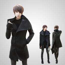Fall-2015 HOT fashion new long men's trench coat winter overcoats Big yards mens wool coat
