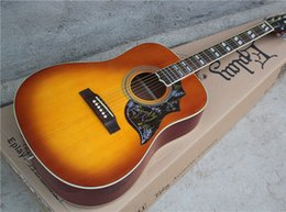 Wholesale 41 Inch Acoustic Guitar with Tobacco Sunburst Body and EQ Pickups is Added Can be Changed