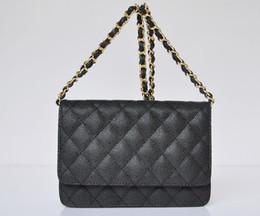 Wholesale Caviar Leather Mini Flap Shoulder Bag Women Single Chain Cowhide Messenger Bag Evening Bag CM