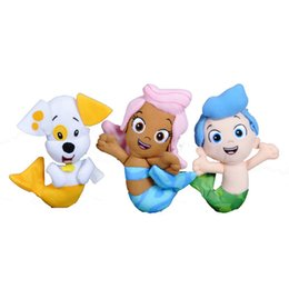 Wholesale 3pcs Bubble Guppies Plush Toy High Quality Kawaii Gil Molly Bubble Puppy Mini Mermaid Stuffed Doll Cartoon Dog Fish Pet Shop Hot Toys