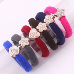 Wholesale Xayakids hair clips barrettes South Korean imports of high grade hair without interface point drill seamless ring elastic hair rope ultra hi