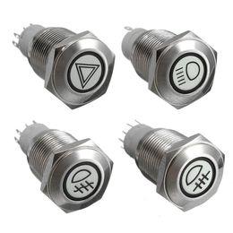 Wholesale Universal Car Auto LED illuminated Momentary mm Push Button Panel Switch Car Dash V order lt no track