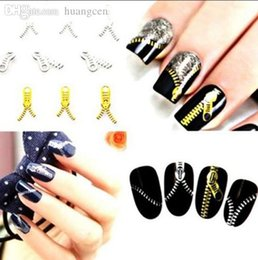 Wholesale Hot Selling Water Transfers Stickers Decals Metallic Zipper Style Nail Art Manicure Kit