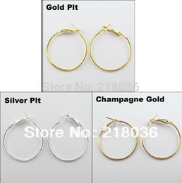 100Pcs Vintage Gold   Silver Fashion Jewelry Lot Circle Basketball Wives Hoops Earrings For Women 40mm A1773 DIY Metal