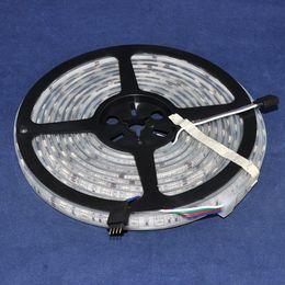 Descuento camisa de potencia Luz de tira flexible libre SMD 5050 de la fuente de alimentación DC12V 5M 60leds / m 300leds del pegamento de la manga alta resistente impermeable de IP68 72W LED