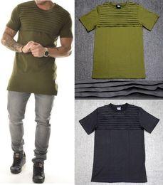 mens t shirts fashion tshirt homme men army green t shirt swag clothes hip hop t-shirt streetwear biker tees Fold style