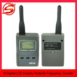 Wholesale 8 Digit LCD Display Portable Mini Frequency Counter RF Signal Strength Indicating Spy Camera Detectors SPY_200