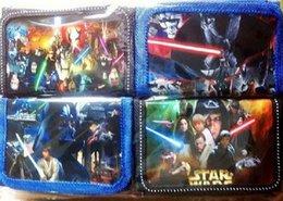 Wholesale 200pcs Star Wars enfants sacs à main portefeuilles enfants sac à main titulaire noir chevalier Darth Vader Stormtrooper portefeuilles enfants sacs nylon portefeuilles