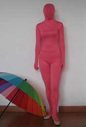 adult size unisex sexy lycra spandex zentai Morph suit zentai costume in pink red green colour