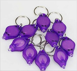 Wholesale 395 nm Purple UV LED Keychain Money Detector led light protable light Keychains Car key accessories HOT search