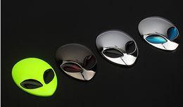 Car 3D ET Logo Metal Aliens Auto Truck Motorcycle Emblem Badge Sticker Decal Trimming Laptop Notebook Ipad Phone Trim